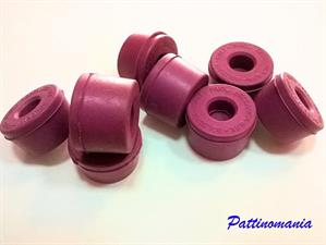 PINK RUBBER SUSPENSION ROLLER SKATES